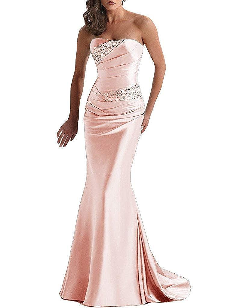 bluesh Tutu Vivi Womens Strapless Prom Quinceanera Dresses Long Beaded Evening Gowns Party