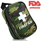 RISEN First Aid Kit NO HANDS CARRY Hang on Waist FDA OSHA Small Great Compact First Aid Kit in Emergency Outdoor Survival Camping Hiking Backpack Biking Travel Sports Car Home Workplace Hunting