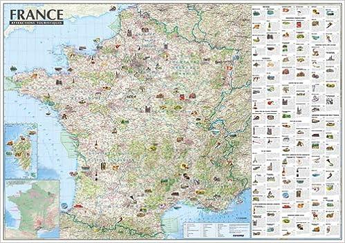 carte touristique de la france