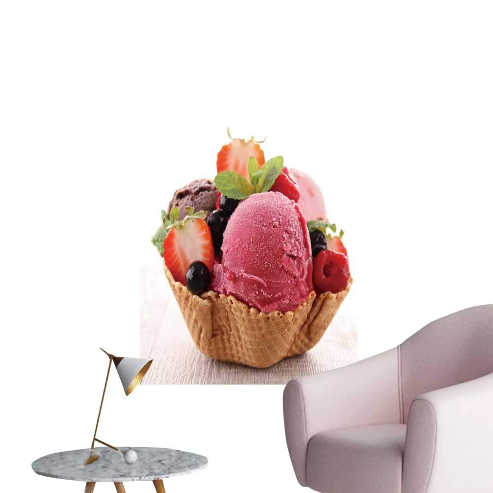 """SeptSonne Wall Art Prints ice Cream for Living Room Ready to Stick on Wall,16"""" W x 24"""" L"""
