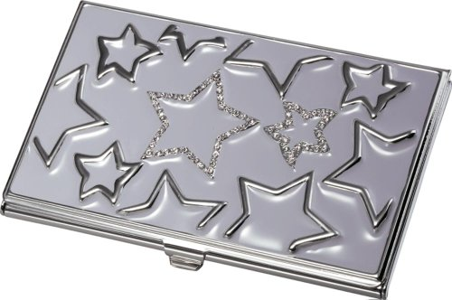 Visol Products Gabriela Lavender Stars with Purple Crystals on Business Card Holder (Card Star Business)