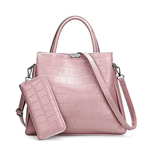 Meaeo Rouge Bandoulière À Une Pink De Diagonale Sac En Épaule Mode À À Modèle Nouveau Pierre Sac Main raqwEfr