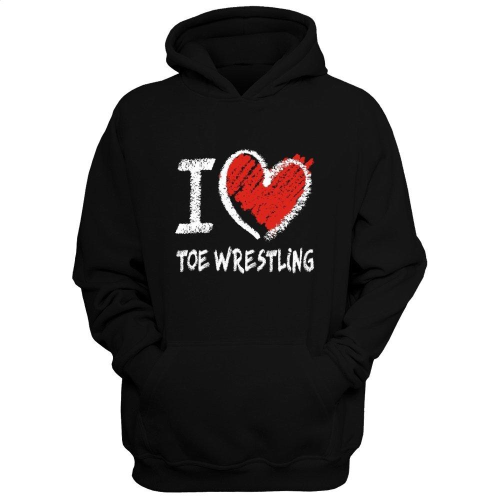 Idakoos Love Toe Wrestling chalk Style - Sports - Hoodie by Idakoos