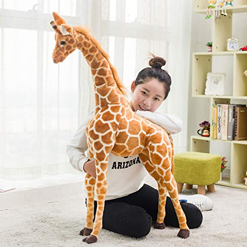 Plush Pillow for Baby/Toddler/Kids/Adults,Large Super Soft Stuffed Toy,3D Oversized Simulation Giraffe Plush Toy, 80CM