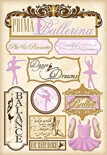 Karen Foster Design Acid and Lignin Free Scrapbooking Sticker Sheet, Prima Ballerina