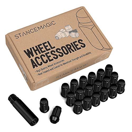 (20pc Black Spline Drive Lug Nuts - 12x1.25 Thread Size - 1.4