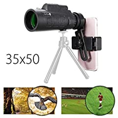 Specifications:Magnification: 10XObjective diameter: 18mmModel Number: 35x50Exit Pupil Distance: 2.3Exit Pupil Diameter: 1.8View: 1200mm/9600mmPrism Material: BAK4Coating Film: FMC wide band green filmFocusing: Objective adjustment + eyepiece...