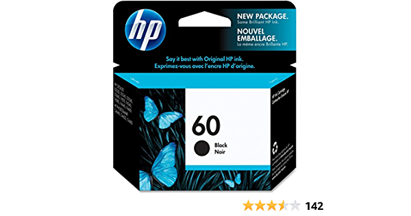 60 Black Black, 2 Pack MS Imaging Supply Remanufactured Inkjet Cartridge Replacement for HP CC640WN