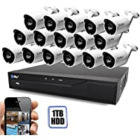 Best Vision 16CH 4-in-1 HD DVR Security Camera System (1TB HDD), 16pcs 1.3 MP High Definition Outdoor Cameras with Night Vision - DIY Kit, App for Smartphone Remote Monitoring