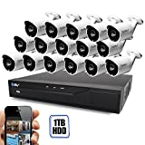 Cheap Best Vision 16CH 4-in-1 HD DVR Security Camera System (1TB HDD), 16pcs 1.3 MP High Definition Outdoor Cameras with Night Vision – DIY Kit, App for Smartphone Remote Monitoring