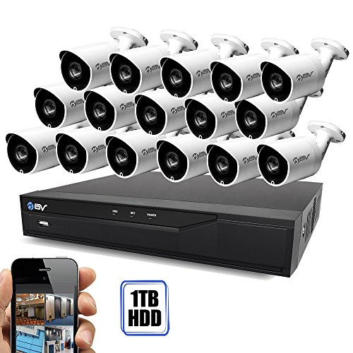 - Best Vision 16CH 4-in-1 HD DVR Security Camera System (1TB HDD), 16pcs 1.3 MP High Definition Outdoor Cameras with Night Vision - DIY Kit, App for Smartphone Remote Monitoring
