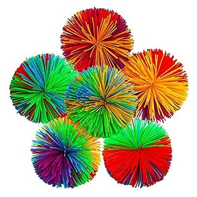 NUOBESTY 10pcs Stress Ball Toy Puffer Balls Bounce Ball Sensory Fidget and Stress Balls for Kids Children Stress Anxiety: Toys & Games