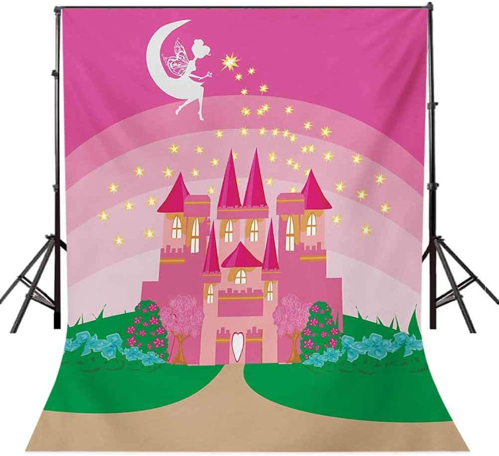 10x12 FT Backdrop Photographers,Magic Fantasy Fairy Tale Princess Castle with Pixie in Sky Fictional Dream Kingdom Background for Photography Kids Adult Photo Booth Video Shoot Vinyl Studio Props