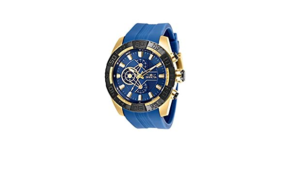 Amazon.com: 25996 - INVICTA Pro Diver Men 50mm Stainless Steel Gold Navy Blue dial VD55 Quartz Watch: Watches
