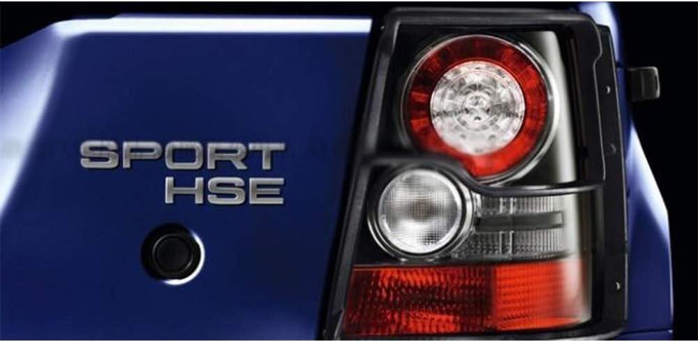 XCBW 1pcs Chrome Sport HSE Grande Lettera Distintivo dellemblema Car Styling Baule Posteriore Logo Sticker per Land Rover Range Rover Sport,Matte Black