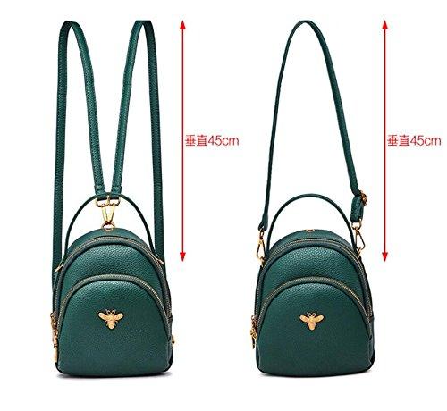 Bolsos De Marrón Paquetes Bolsos Hombro Diagonales Bolsos De Green Múltiples Hombro Meaeo Bolsos gPxq58g1