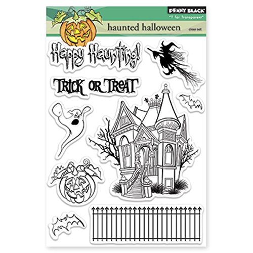 Penny Black 30-184 Hunted Halloween Transparent Stamps