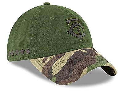 Minnesota Twins New Era 2017 Memorial Day 9TWENTY Adjustable Hat - Green/Camo
