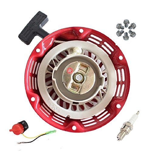 Janrui Pull Start Recoil Starter for r Honda Gx120 Gx140 Gx160 Gx200 Generator Engine Motor Parts + Screws + On Off Stop Switch + Fuel Joint Filter ()