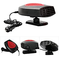 Molie Portable 12v usr Fan Heater Automobile Heater Warmer and Defroster for Easy Snow Removal