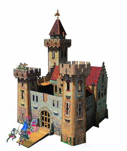Clever Paper Knight's Castle with Figures