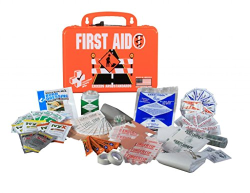 Certified Safety K613-027 18PO Road Standard First Aid Kit, Poly Orange