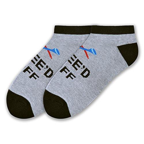 K. Bell Socks Men's Novelty Golf Graphic No Show Socks, Tee'd Off (Grey), Shoe Size: - Bell Socks K Golf