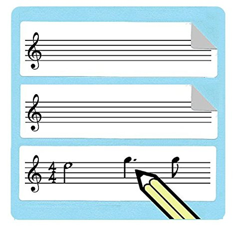 (Treble Clef Staff Stickers (75 Pack) Great for music teachers! )