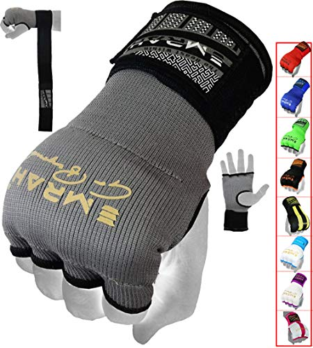 EMRAH Pro Boxing Hand Wraps Inner Gloves for Punching Padded Bandages Under Mitts, Quick Wraps, Fist Protector – MMA…