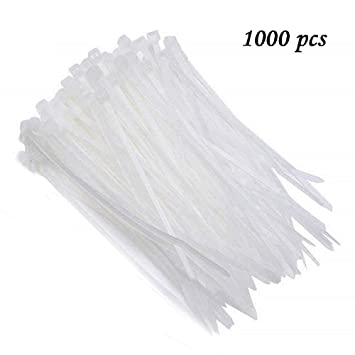Correa de nailon de plástico blanco con autobloqueo, cuerda de ...