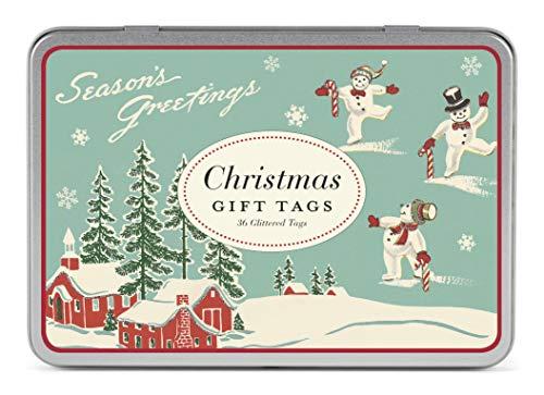 (Cavallini Papers & Co., Inc. Christmas Winter Wonderland Glittered Gift Tag Set )