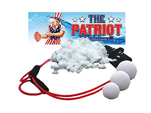 The Patriot Snow Ball Launcher / 3 Person Slingshot / Catapult 300 Feet / Winter Toy (300 Feet) -