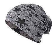 NUWFOR Men Women Star Warm Crochet Winter Knit Ski Beanie Skull Slouchy Caps Hat