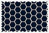 SheetWorld Navy Honeycomb Fabric - By The Yard
