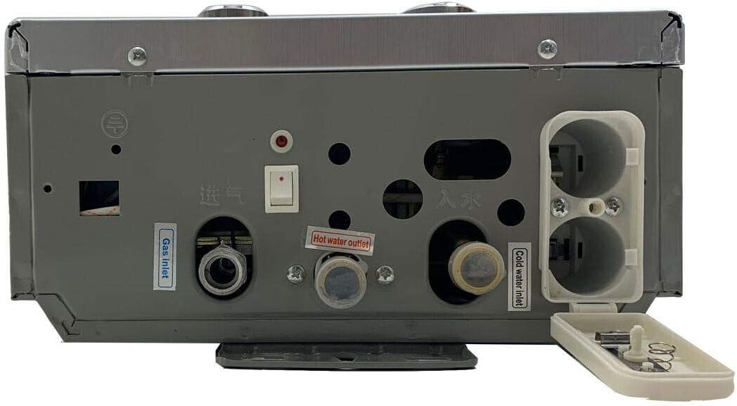 DOMINTY Calentador de agua de gas portátil, 8 L, 16 kW, ducha ...