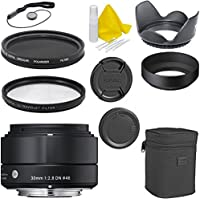 Sigma 30mm f/1.4 DC HSM Deluxe Lens Kit for Canon DSLR Cameras