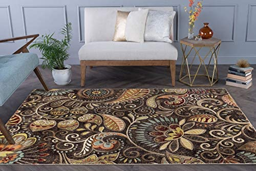 Tayse Giselle Brown 5x8 Rectangle Area Rug
