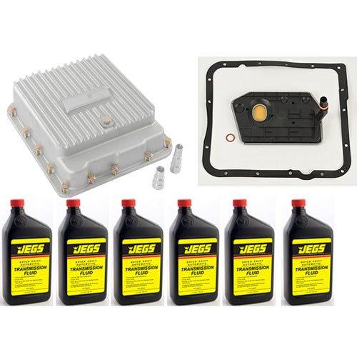 JEGS Performance Products 60173K Cast Aluminum Transmission Pan Kit 700R4 4L60 4 ()