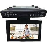 """Sylvania SKCR2706BT 10.2"""" Under Cabinet Kitchen TV with Built in DVD Player & HDMI, Bluetooth"""