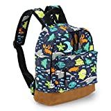 Zicac Childrens' Cute Canvas School Backpacks Mini Rucksack School Bag (S, Blue-Coffee)