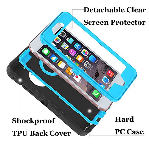 Case for iPhone 6/6s,[Heavy Duty] 3 in 1 Built-in Screen Protector Cover Dust-Proof Shockproof Drop-Proof Scratch-Resistant Shell Case for Apple iPhone 6/6s 4.7 inch,Black/Green