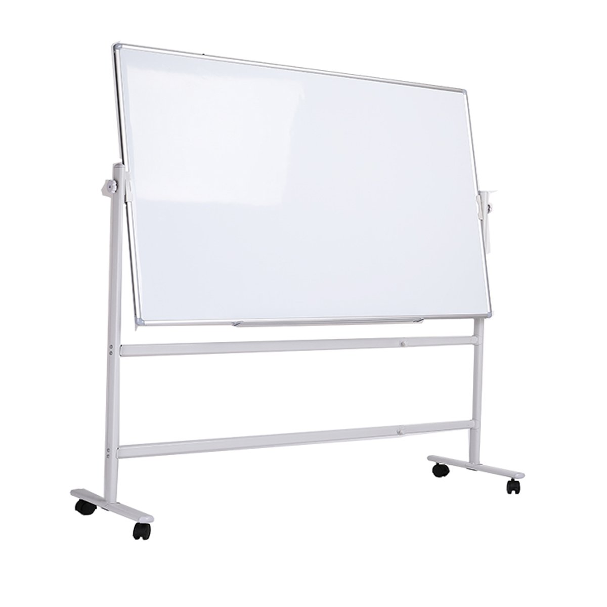 ZHIDIAN Office 36×48Inch Mobile Double Sided Magnetic White Dry Erase boards Stand Easel / 2 marker color magnet 4 eraser 1 Included (48×36Inches, Mobile stand)