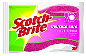 Scotch-Brite Scrub Sponge, Delicate Duty, 6-Count