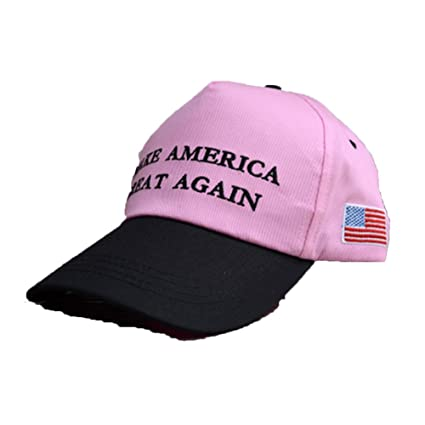 26a3bd3472d Leoie Make America Great Again Hat Donald Trump USA MAGA Cap Adjustable Baseball  Hats Unisex-Adult Pink Peace  Amazon.in  Home   Kitchen