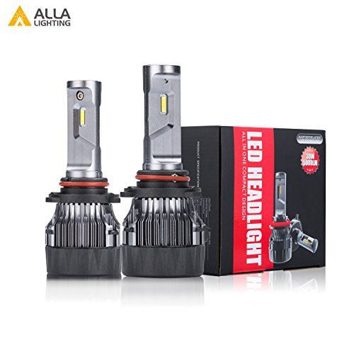 Alla Lighting S-HCR 2018 Newest Version SUPER Mini 9005 HB3 LED Headlight Bulb 10000 Lumens Extremely Super Bright Cool White High Power All-in-One Conversion Kits Headlamps Bulbs Lamps