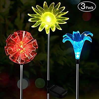 OxyLED Solar Garden Lights Outdoor, Figurine Stake Light, Color Changing Landscape Lighting