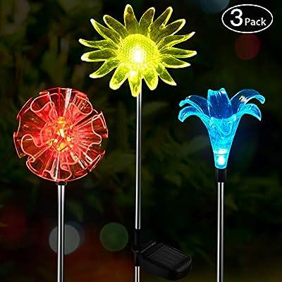 OxyLED Solar Garden Lights Outdoor, Figurine Stake Light, Color Changing Landscape Lighting