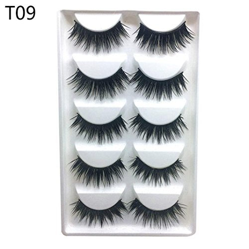 (Luxury 3D False Lashes Fluffy Strip Eyelashes Long Natural Party (H))