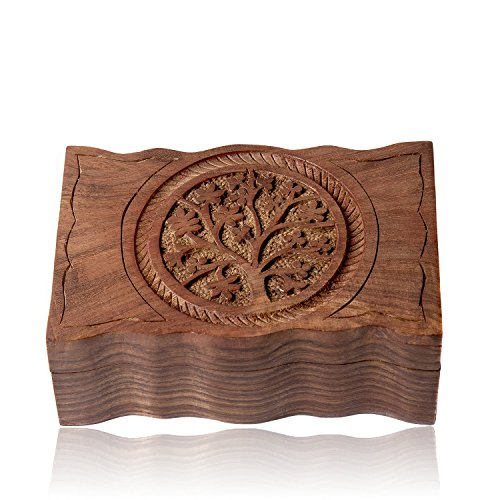 Communion Memory Box - Artemistore Tree of Life Wooden Box 4 x 6 inches