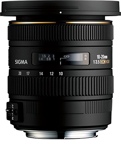 Sigma 10-20mm f/3.5 EX DC HSM ELD SLD Aspherical Super Wide Angle Lens for Nikon Digital SLR Cameras (Best Wide Angle Lens For Nikon D3200)
